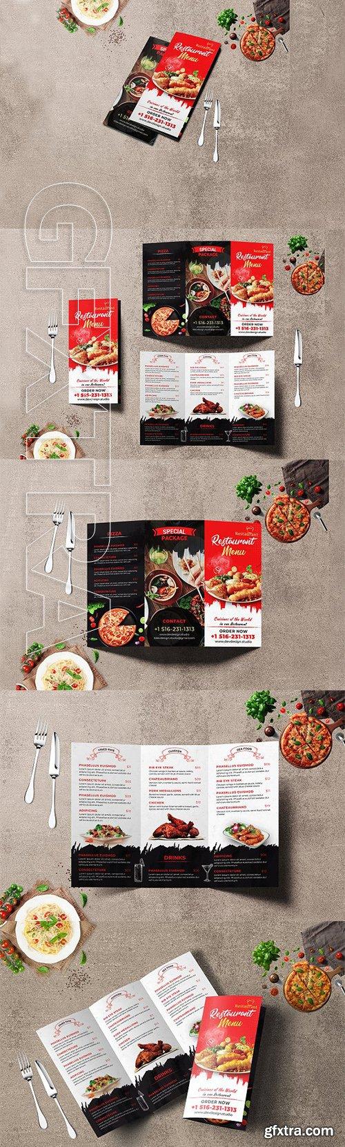 CreativeMarket - Modern Restaurant Trifold Brochure 3330030