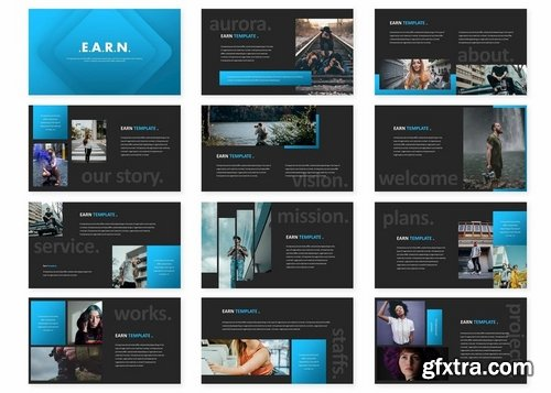 Earn - Powerpoint Keynote and Google Slides Templates