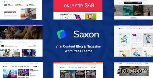 ThemeForest - Saxon v1.4 - Viral Content Blog & Magazine WordPress Theme - 22955117 - NULLED