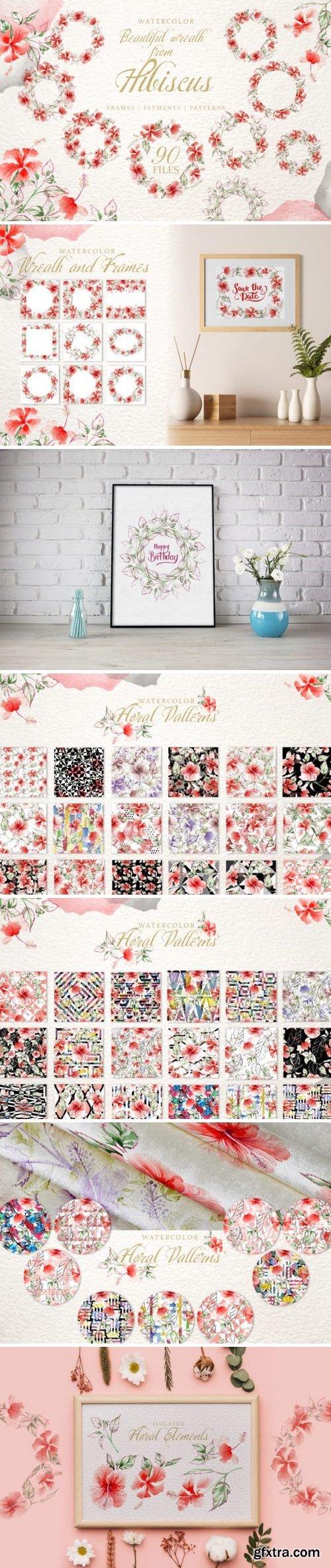 CM - Hibiscus Watercolor png 3358061