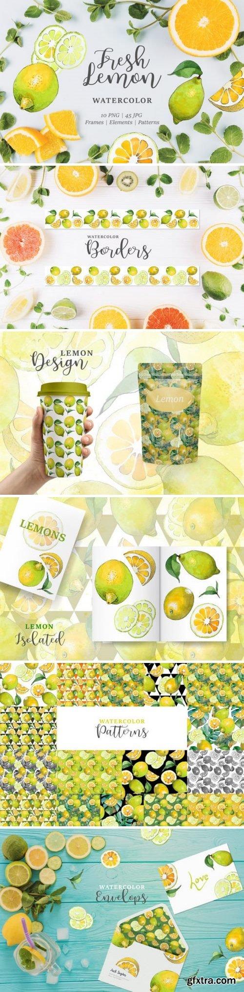 CM - Lemon Watercolor png 3358192
