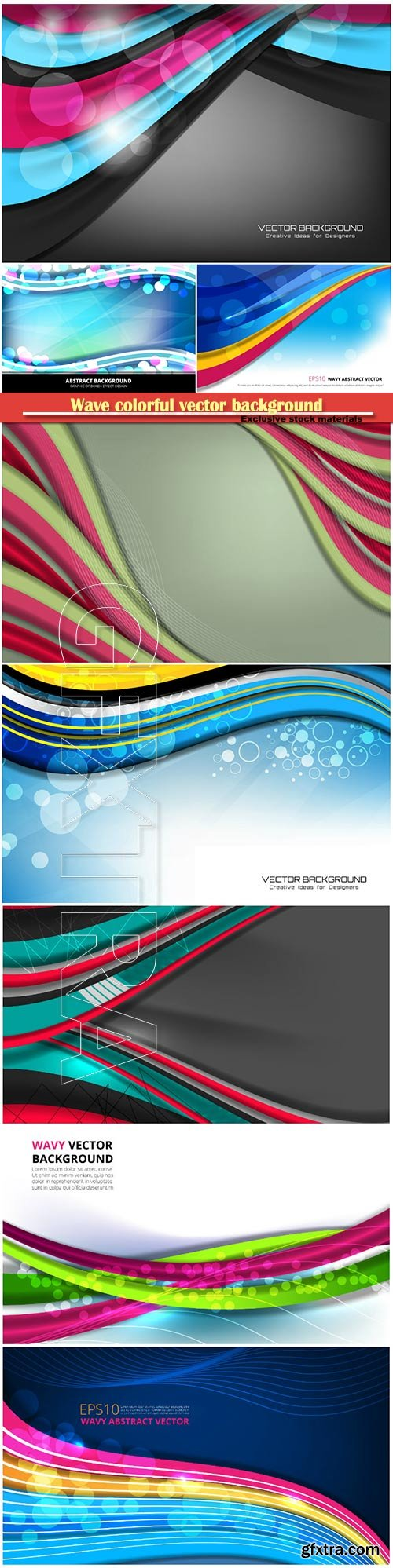 Wave colorful vector background