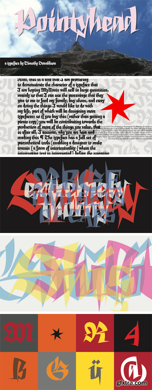 Pointyhead Font