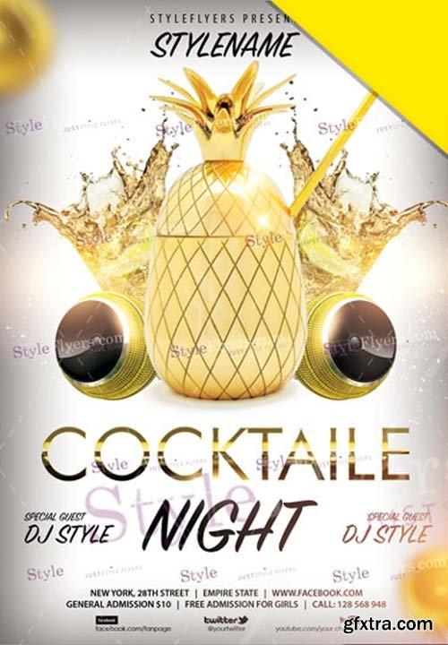 Cocktaile Night V1 2019 Flyer PSD
