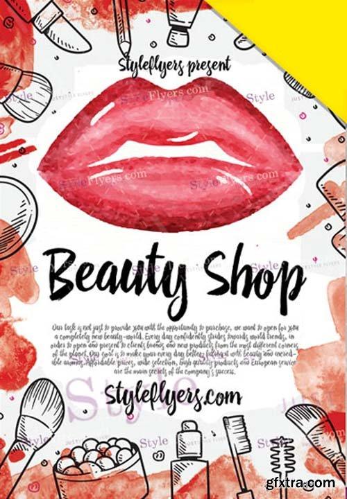 Beauty Shop V1 2019 Flyer PSD