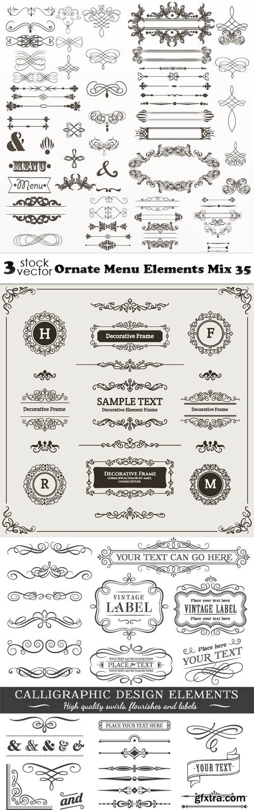 Vectors - Ornate Menu Elements Mix 35