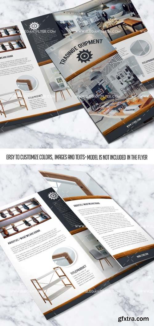 Trading equipment V1 2019 PSD Tri-Fold Brochure Template