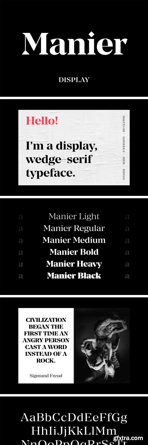 CM - Manier – Sharp Serif Typeface 3375755