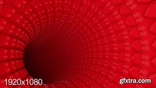 MotionArray 3D Heart Tunnel 164202
