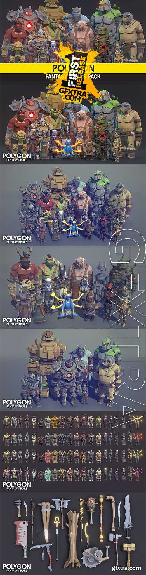 Cgtrader - POLYGON - Fantasy Rivals Pack Low-poly 3D model