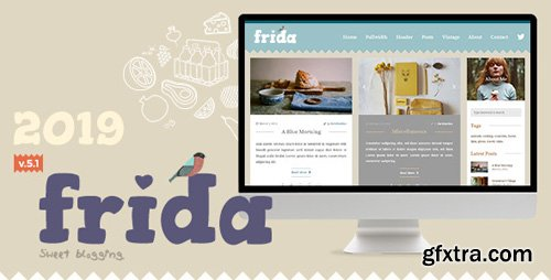 ThemeForest - Frida v5.1 - A Sweet & Classic Blog Theme - 10623362
