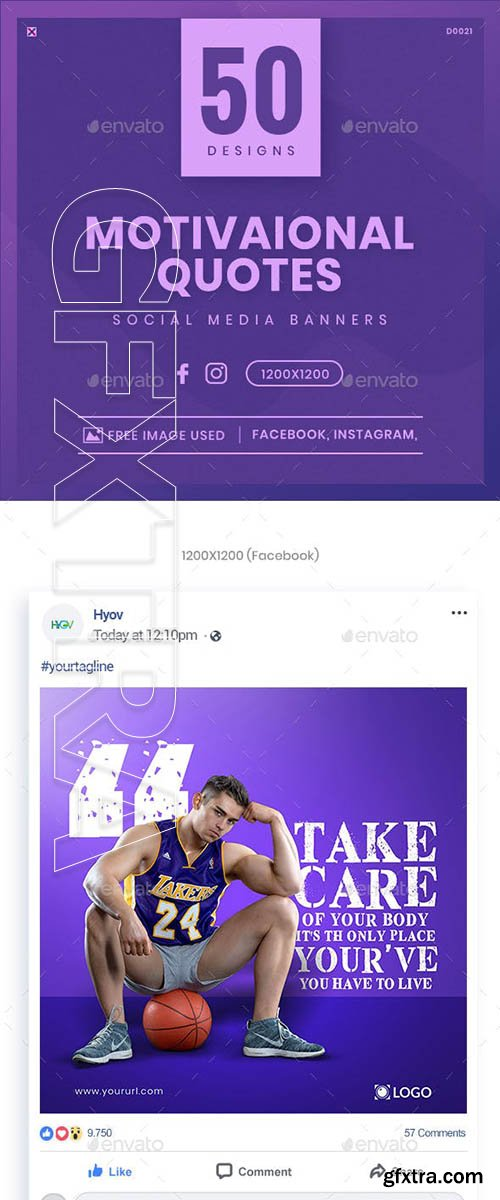 GraphicRiver - Quotes Facebook and Instagram Banner Set - 50 Designs 23137168