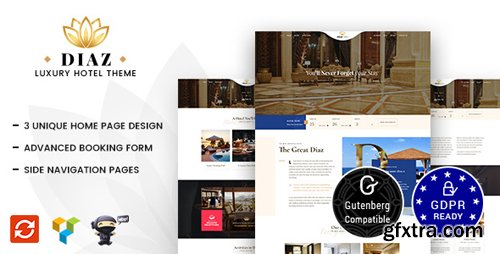 ThemeForest - Hotel Diaz v1.3 - Hotel Booking Theme - 21176090