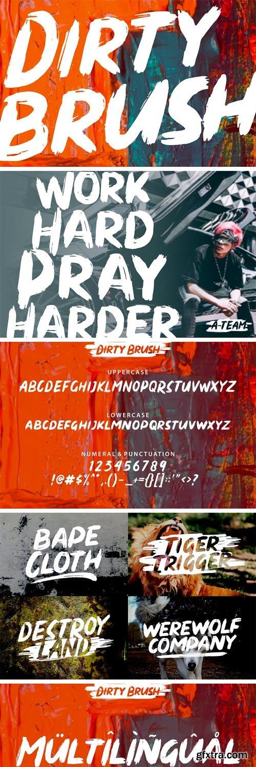 CM - DIRTY BRUSH Font 3370353