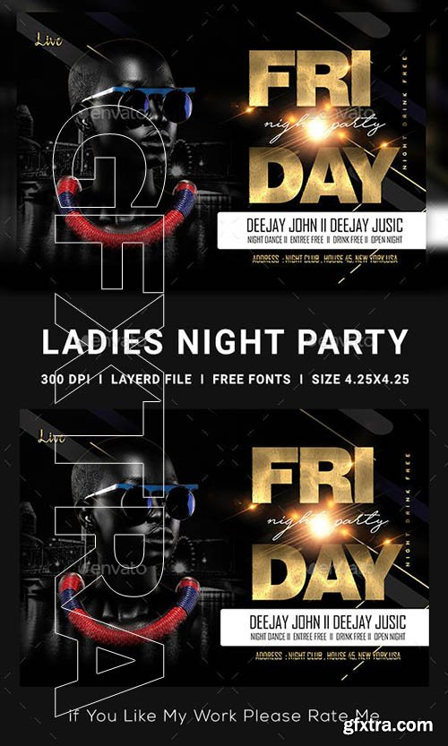GraphicRiver - Ladies Night Club Flyer 23139253