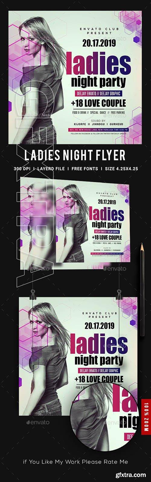 GraphicRiver - Ladies Night Club Flyer 23139277