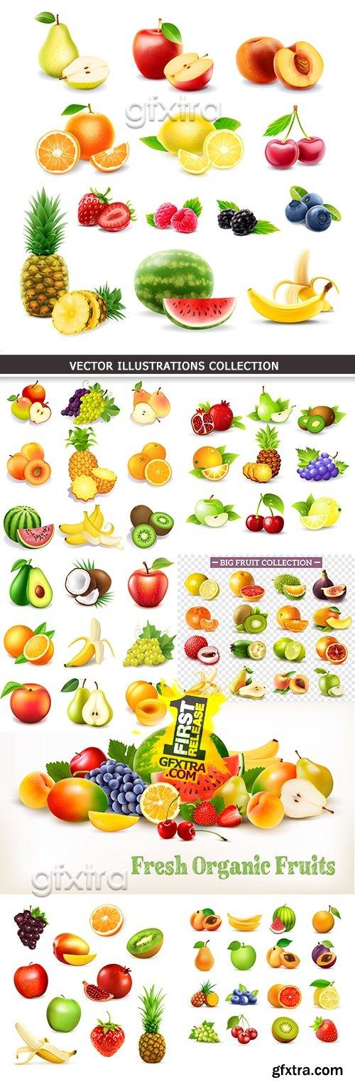 Ripe fresh fruit tasty and useful dessert