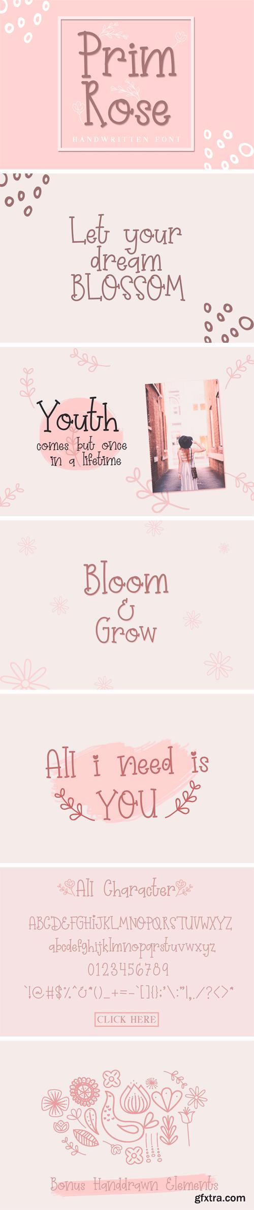 CM - Prim Rose - Lovely Handwritten+EXTRA 3376121