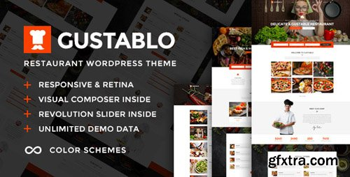 ThemeForest - Gustablo v1.2 - Restaurant & Cafe Responsive WordPress Theme - 21622075