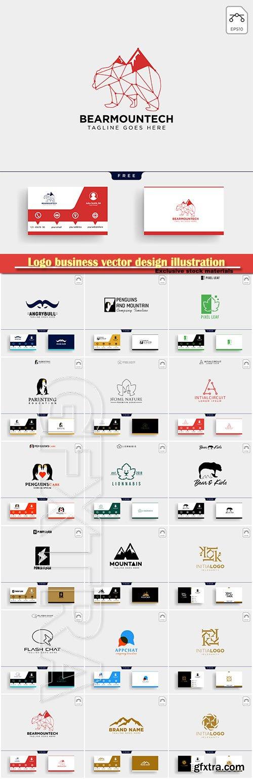Logo business vector design illustration # 22