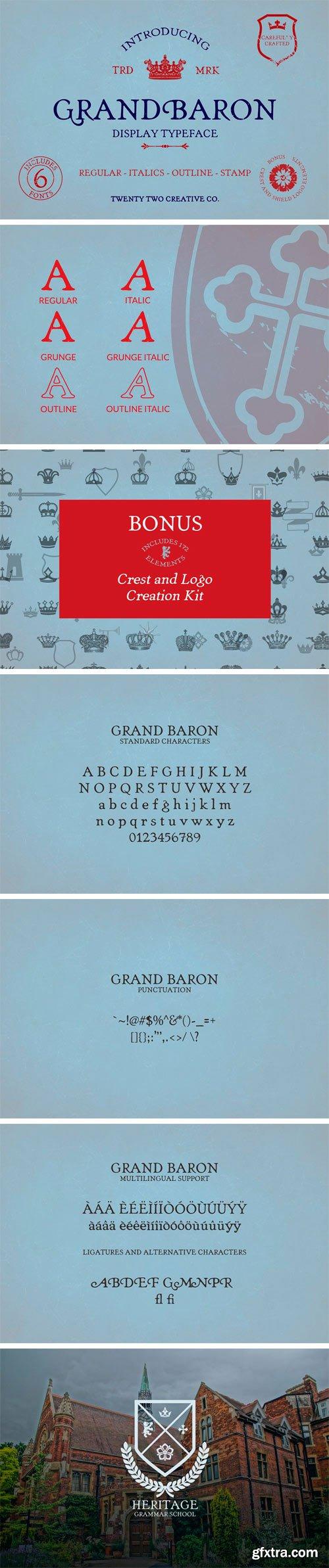 CM - Grand Baron - A Vintage Typeface 3377110