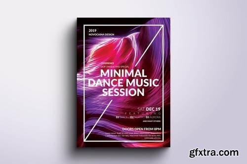 Colorful Minimal Party Flyer & Poster
