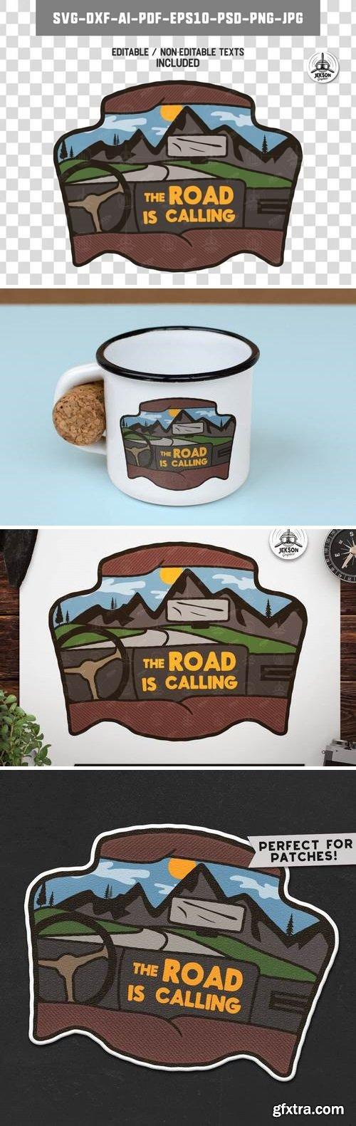 Road Trip Badge / Vintage Travel Logo Camp Patch