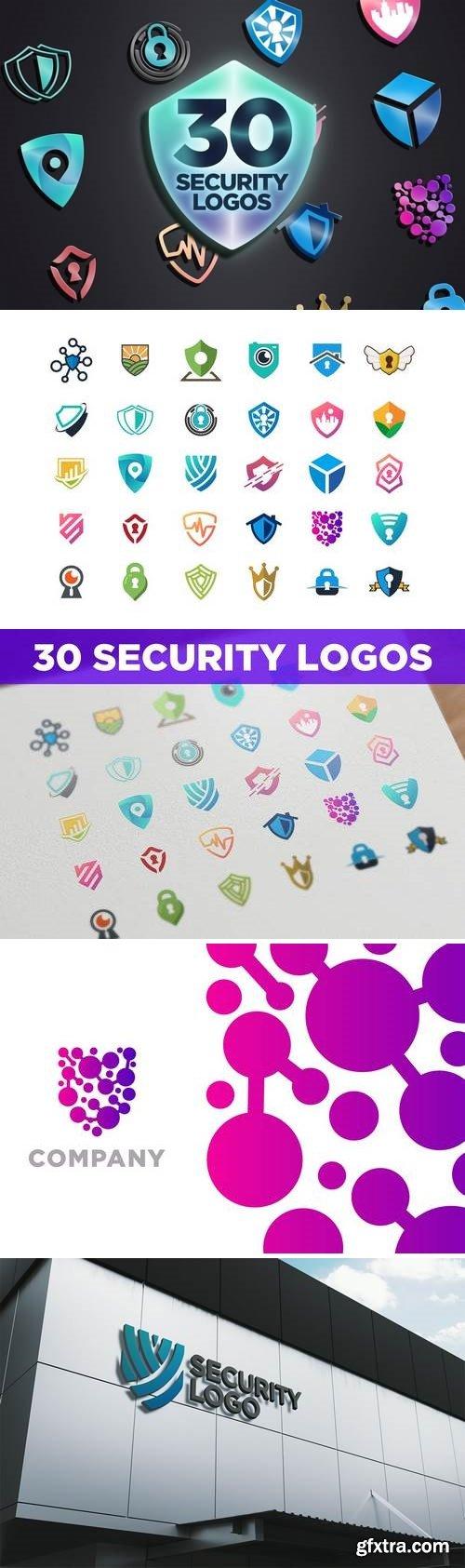 30 Modern Security Logos