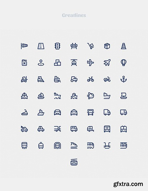 Greatlines 50 Transport icons