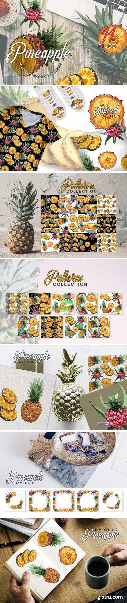 CM - Pineapple Watercolor png 3358477