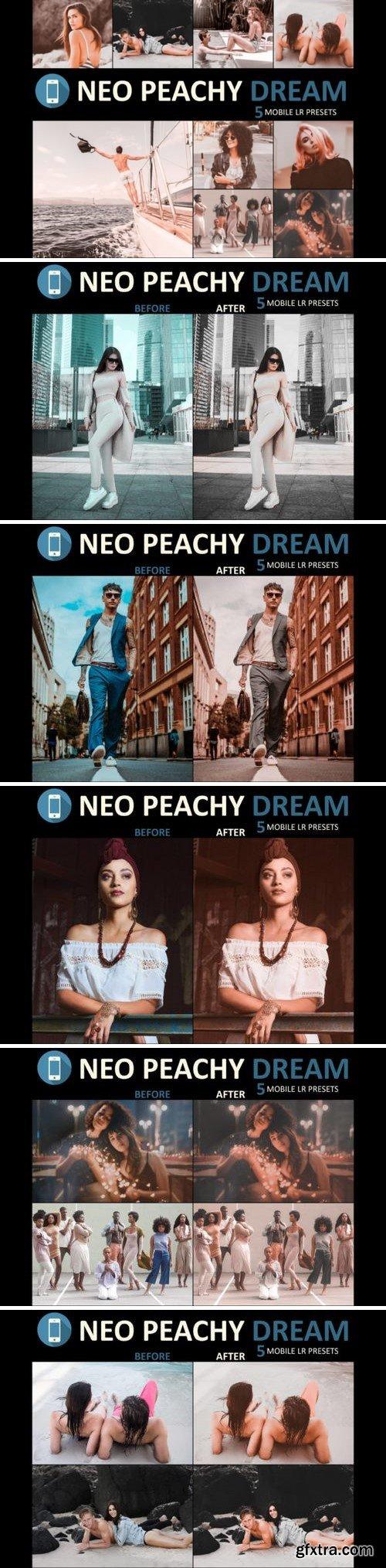 Neo Peachy Dream mobile lightroom presets