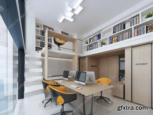 Office Interior Scene 07