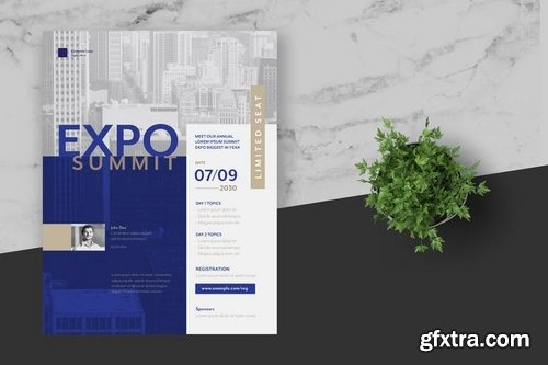 Clean Expo Summit Business Event Flyer Poster
