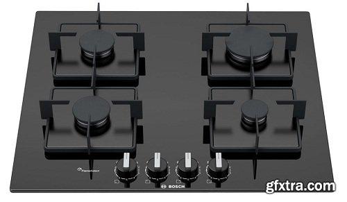 Gas Hob by Bosch 3d Model
