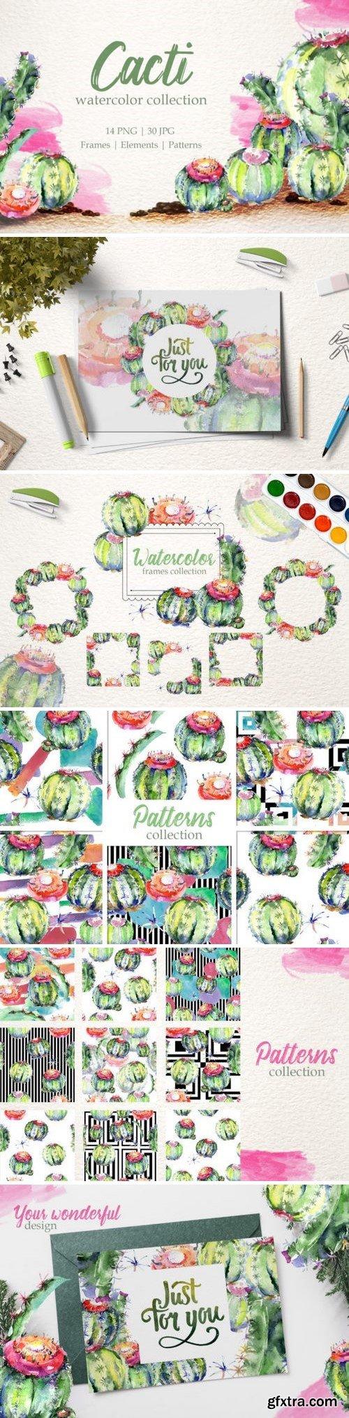 CM - Cacti Watercolor png 3371512