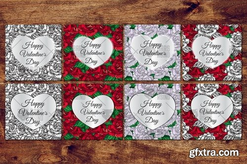Valentine\'s Day Cards With Roses