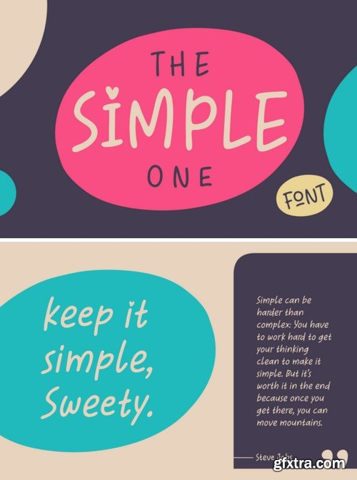The Simple One Font