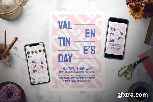 Modern Valentine\'s Day Flyer Set