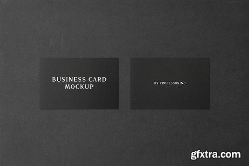 85x55 Business Card Mockup - Black Edition
