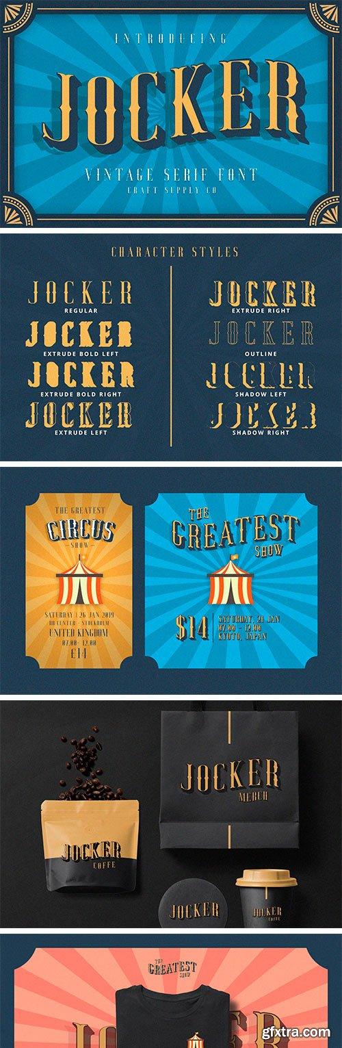 CM - Jocker - Vintage Serif Font Family 3377206