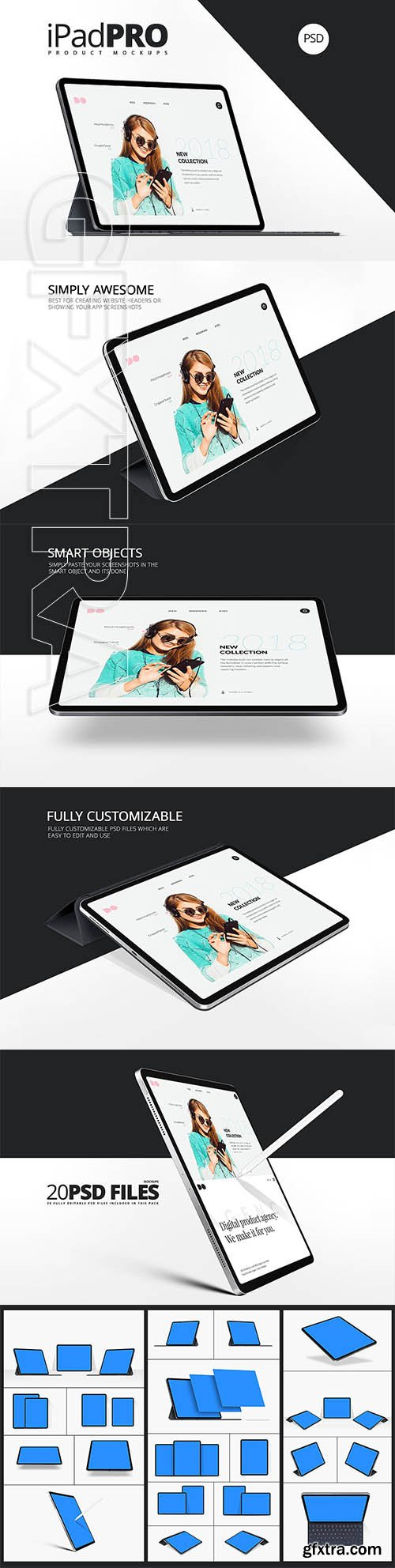 CreativeMarket - All New iPad Pro Mockups 3327847