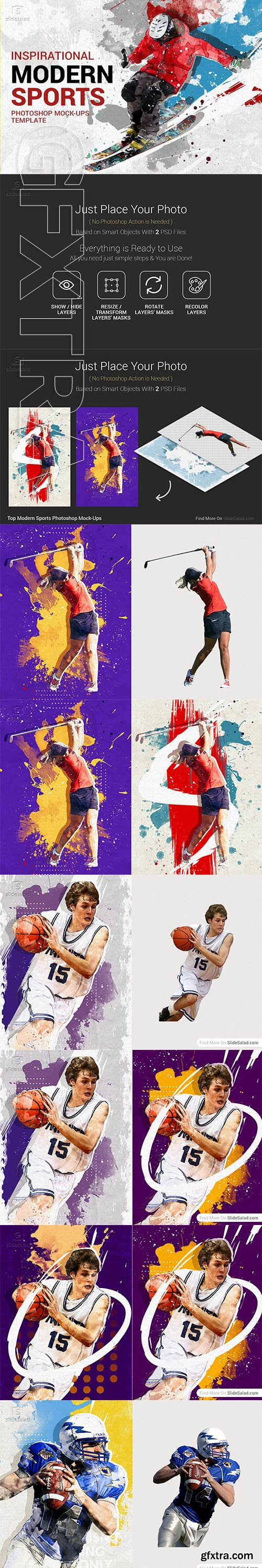CreativeMarket - Top Modern Sports Photoshop Mock-Ups 3324367