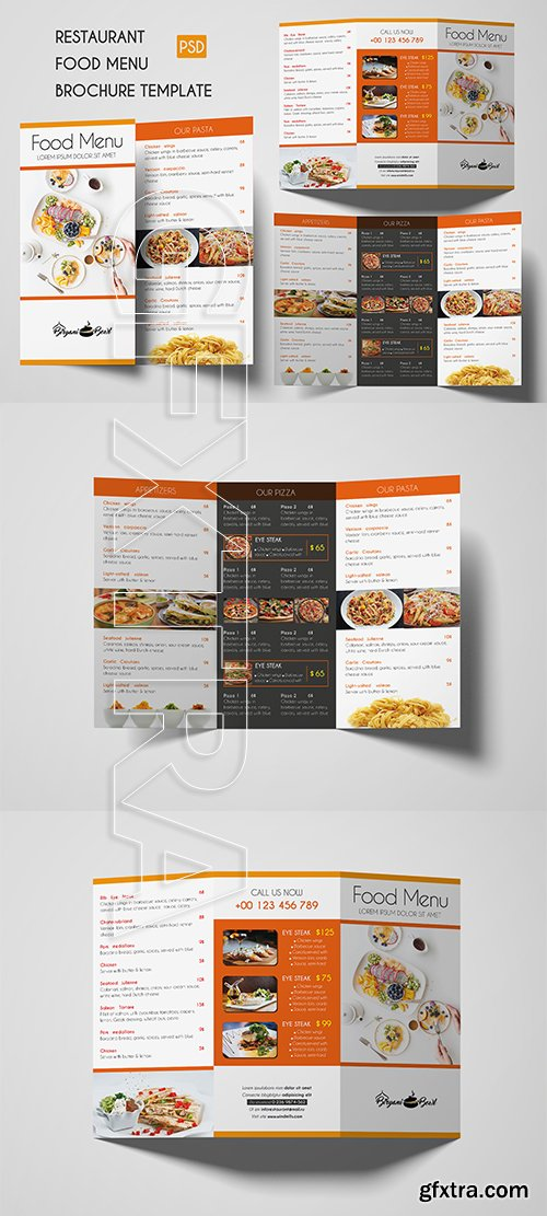 CreativeMarket - Restaurant Food menu Brochure 3309001