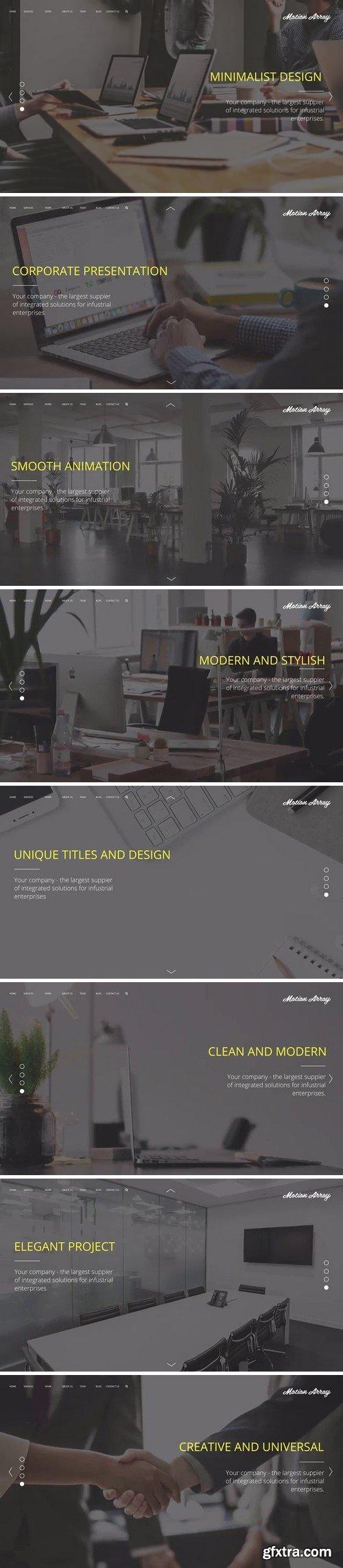 MotionArray Minimalism Corporate Presentation 165058