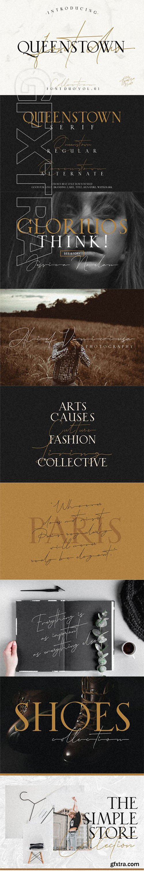 CreativeMarket - Queenstown 2 Font Signature & serif 3370480