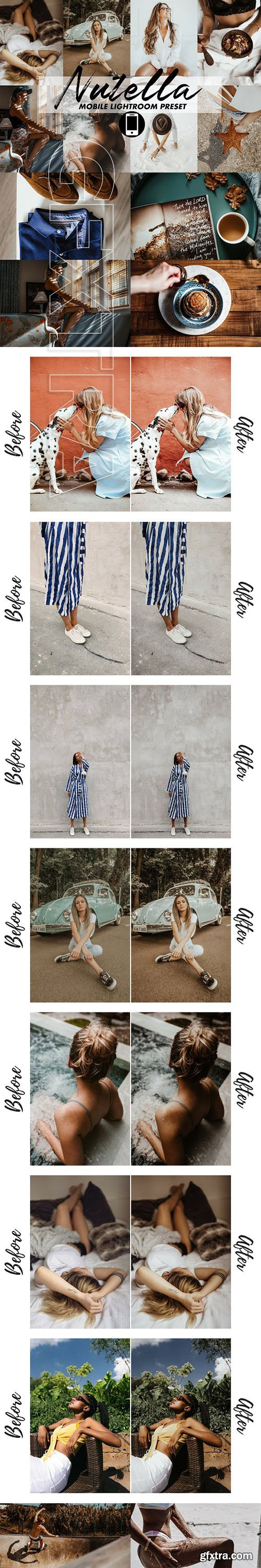 CreativeMarket - Mobile Lightroom Preset Nutella 3356244