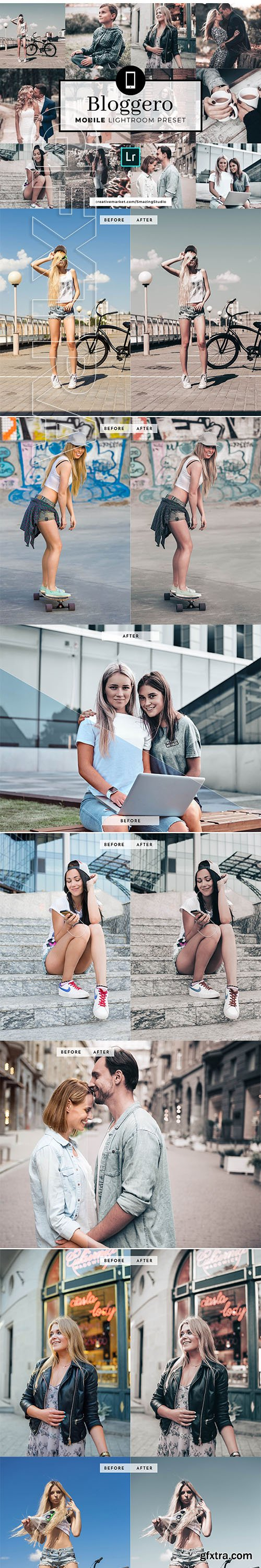 CreativeMarket - Mobile Lightroom Preset Bloggero 3357254