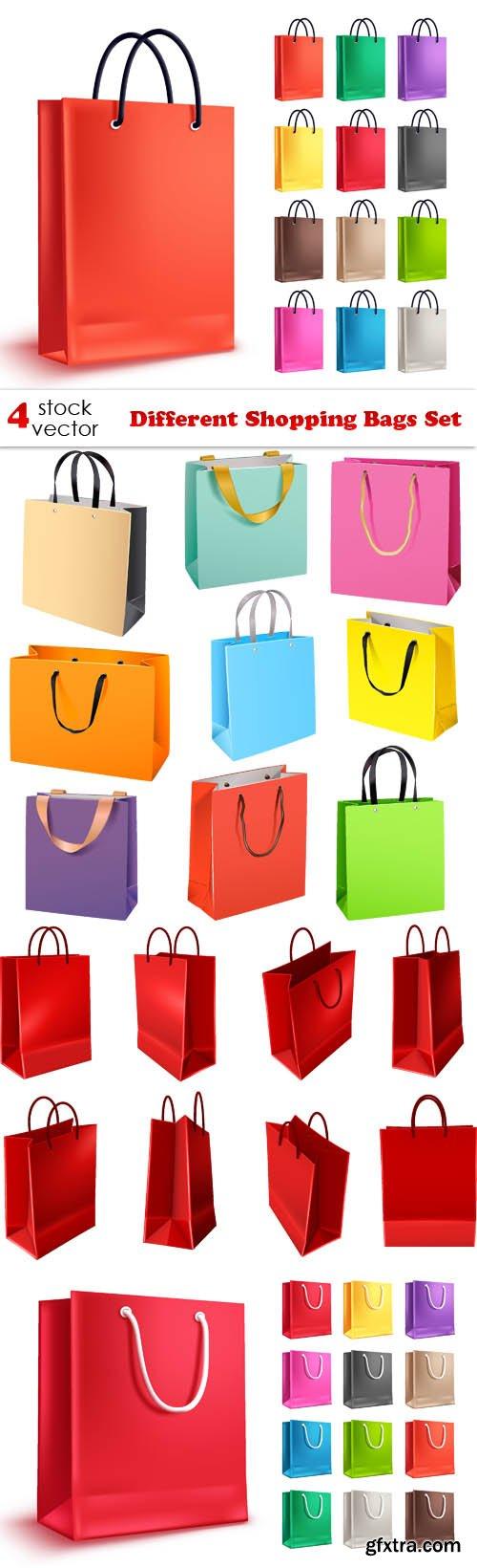 Vectors - Different Shopping Bags Set