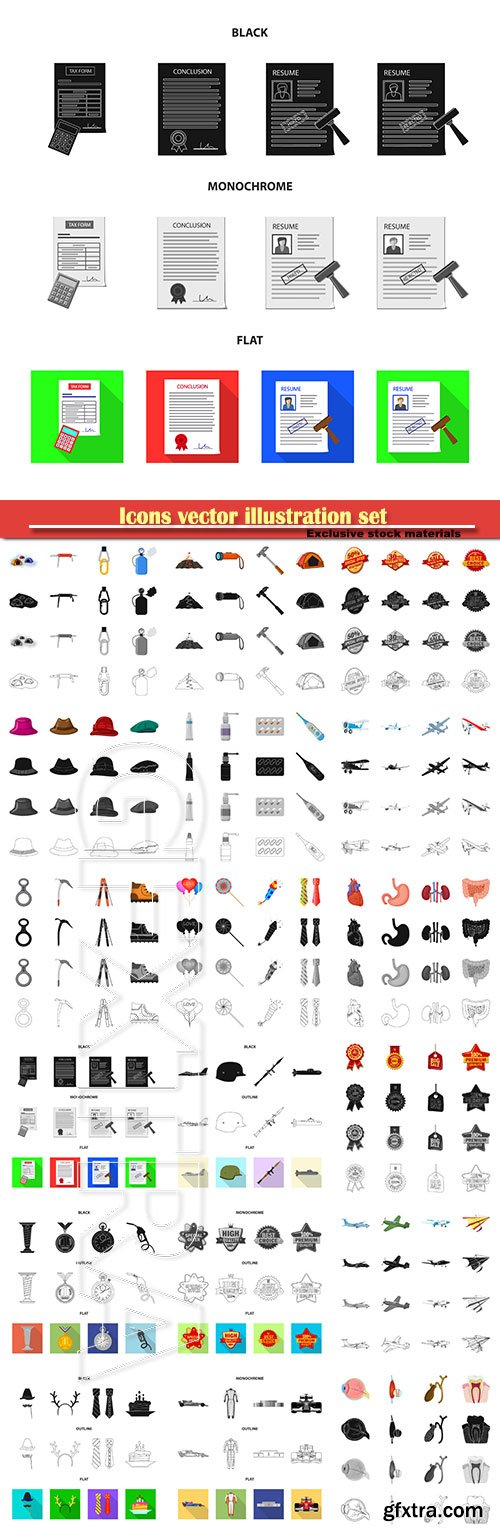Icons vector illustration set # 13