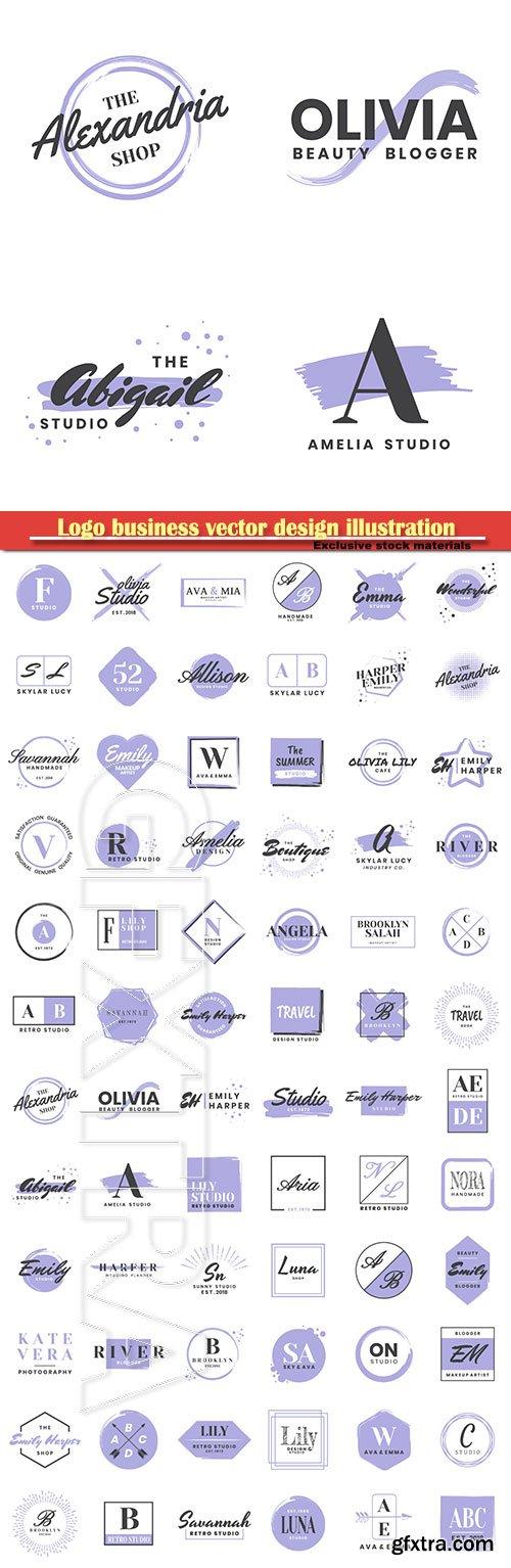 Logo business vector design illustration # 26